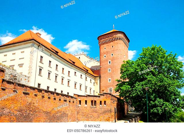 Senator's tower at Royal Wawel Castle as a part of most important historical complex in Krakow, Poland