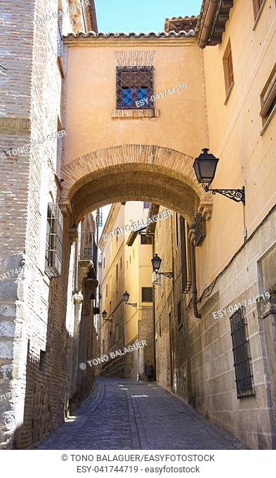 Toledo Angel street arch in Castile La Mancha of Spain
