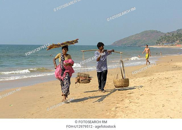 india, beach, women, person, people, woman