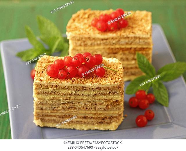 Sponge cake pastries