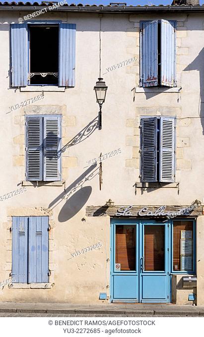 Facade of cafe bar, La Rochelle, Charente-Maritime, France, Europe