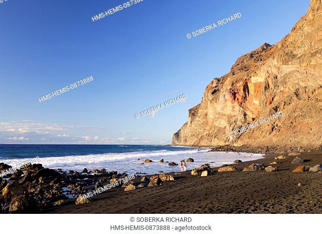 Spain, Canary Islands, La Gomera, Valle Gran Rey, Playa de Calera, beach called Playa del Ingles