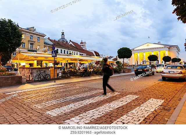 Town Hall square. Vilnius, Vilnius County, Lithuania, Baltic states, Europe
