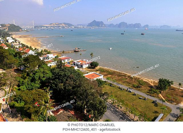 The town of Halong bay , situated in the province of Quang Ninh, in Vietnam November 11, 2009