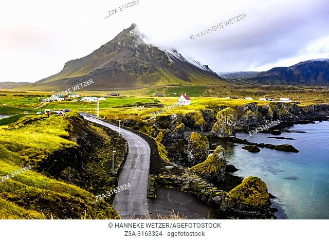 Arnarstapi village with rain, Iceland