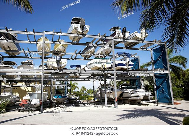 outdoor boat storage racks marina florida usa