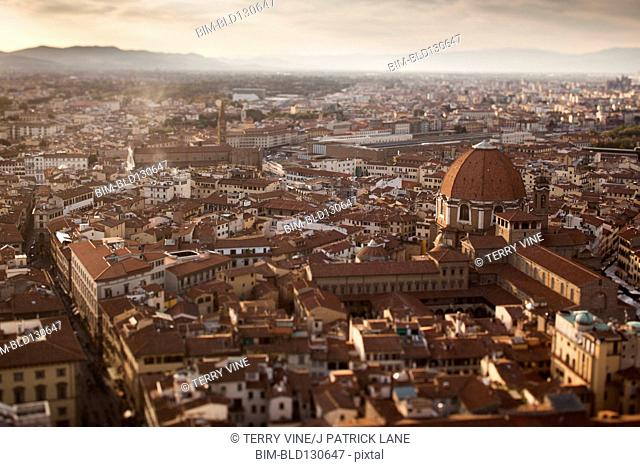 Aerial view of Florence cityscape, Tuscany, Italy