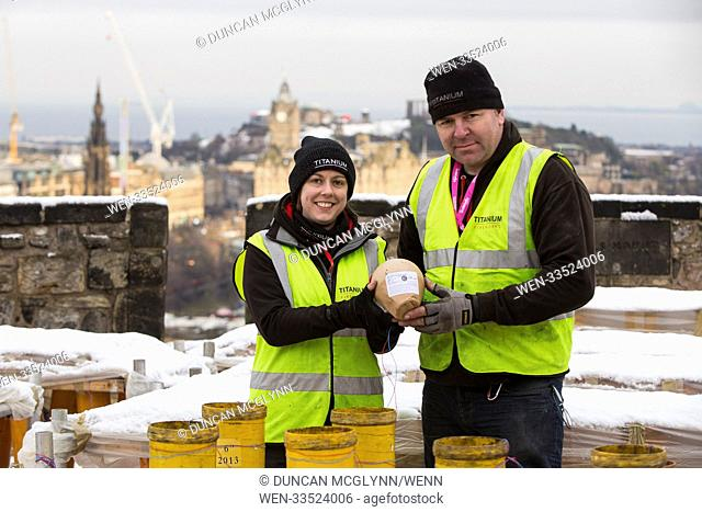 Edinburgh Prepares for it's Famous Hogmanay fireworks display which is put on by the team at Titanium Fireworks. Shaun Gibson and Lynn Wiseman who are...