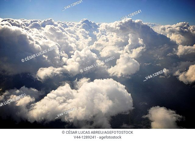 Clouds over the Mediterranean