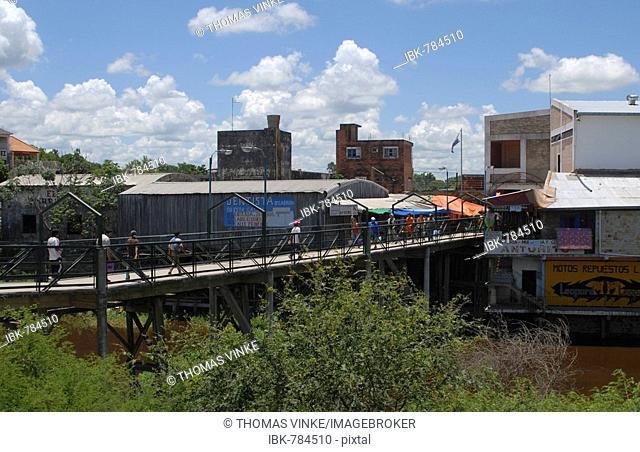 Smuggler bridge between Paraguay and Argentina, Clorinda, Formosa Province, Argentina and Puerto Falcon, Asuncion, Paraguay, South America
