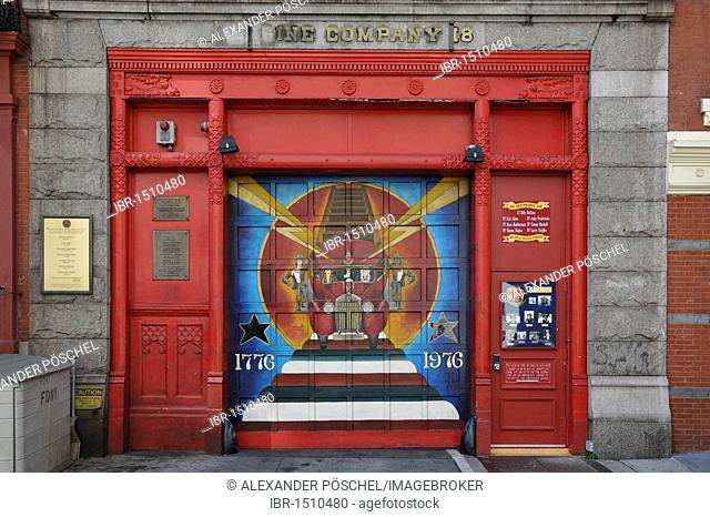 Entrance to the Fire Department, West 10th Street, Greenwich Village, New York City, New York, North America, USA