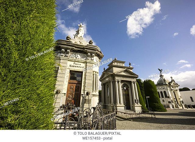 Croatian mausoleum, cementerio municipal Sara Braun, 1894, Punta Arenas -Sandy Point-, Patagonia, República de Chile, South America