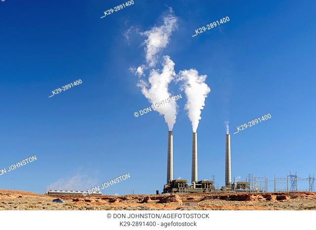 Navajo Generating Station. Coal-fired power plant, Page, Arizona, USA