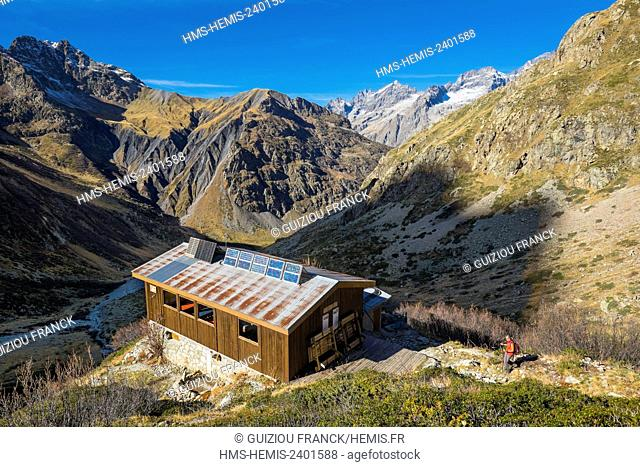 France, Hautes Alpes, Ecrins National Park, La Chapelle en Valgaudemar, hike to Chabourneou refuge (alt : 2020m)