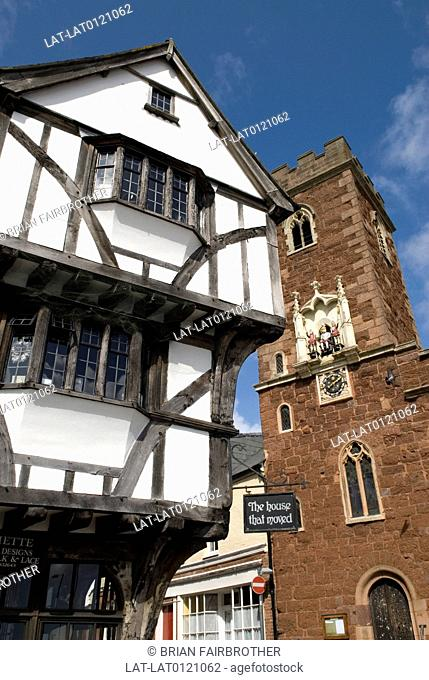 The house that moved,number 16 Edmund Street or Merchant house,is one of the oldest surviving houses in Exeter. The Tudor house was physically moved on rollers...