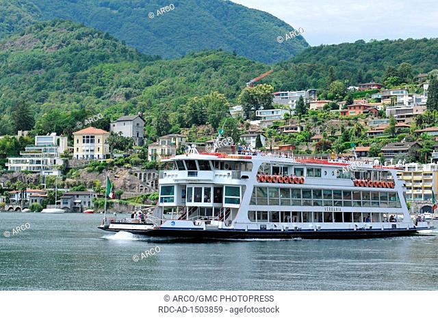 ferry boat, Ascona City, Lago Maggiore, canton Ticino, Switzerland