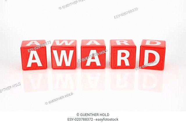 Award out of red Letter Dices