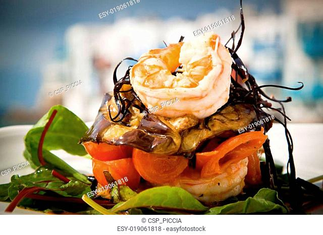 Prawn salad beach Stock Photos and Images | age fotostock