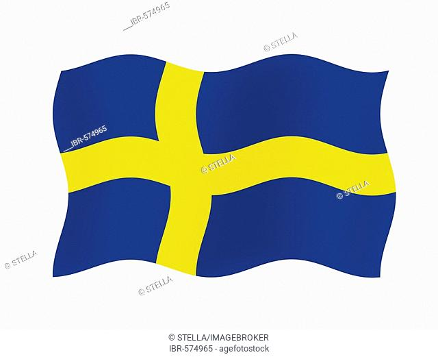 The flag of Sweden - graphic