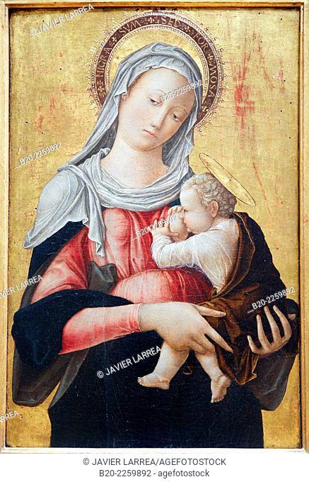La Vierge allaitant l'Enfant. Bartolomeo Vivarini. Louvre Museum. Paris. France