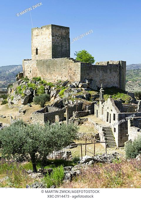 Historic village and castle Marialva, located on the hills high above river Douro. The valley of river Douro. It is the wine growing area Alto Douro and listed...