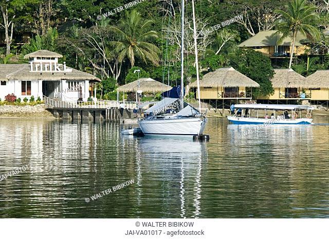 Vanuatu, Efate Island Port Vila, Boats near Iririki Island