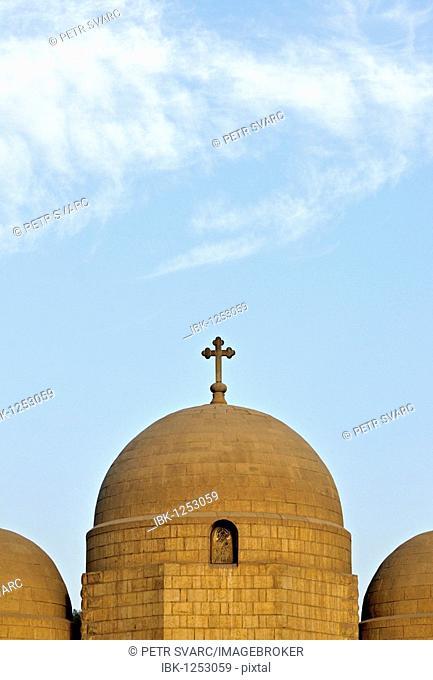Dome of Church of Saint George, Upper Church, in Old Coptic Cairo, Masr al-Qadima, Egypt, North Africa
