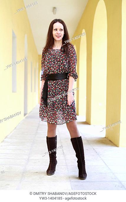Woman on hallway
