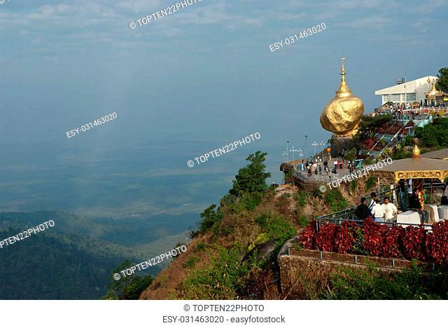 View of Kyaikhtiyo Pagoda