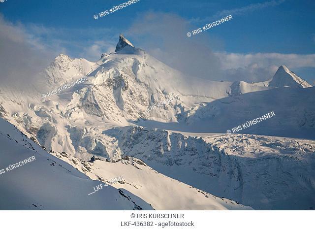 Zinalrothorn and Obergabelhorn, Val d Anniviers, Zermatt, Canton of Valais, Switzerland