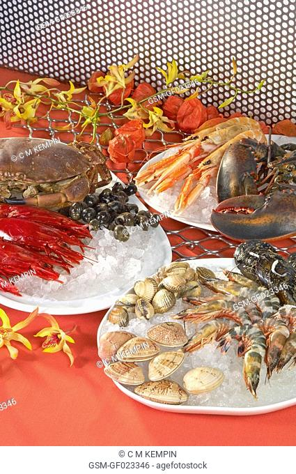 Still-life of seafood
