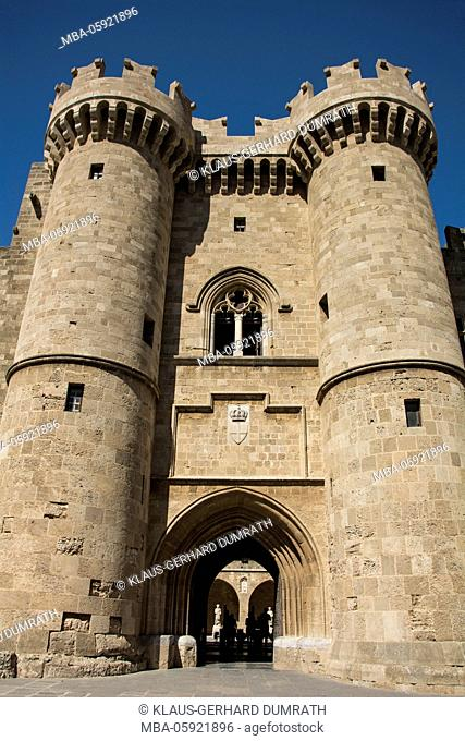 Rhodes, main entrance of the Palace of the Grand Master of the Knights