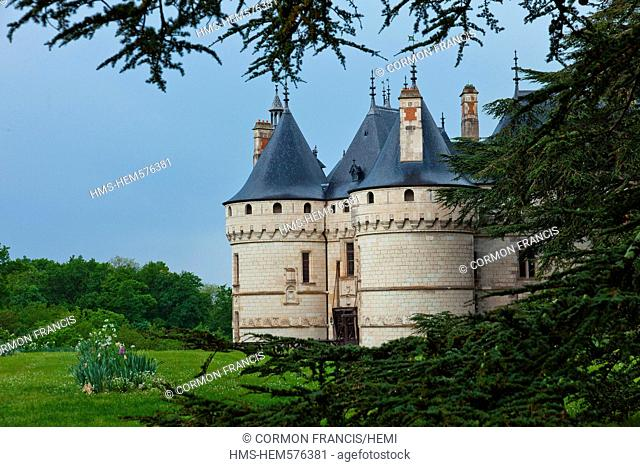France, Loir et Cher, Loire Valley listed as World Heritage by UNESCO, Chateau de la Loire castles of the Loire, Chateau de Chaumont sur Loire