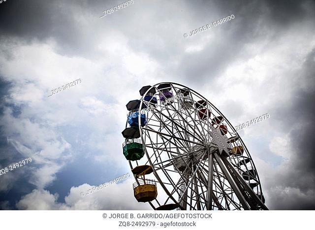 Big wheel at Tibidabo Park, Barcelona, Spain