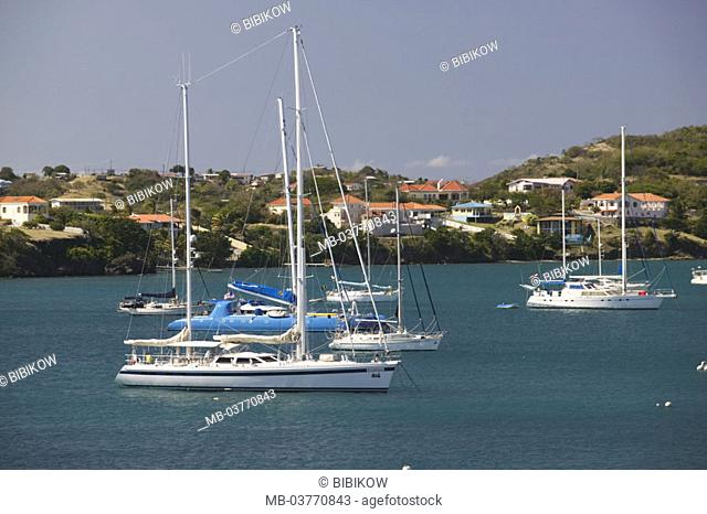 Grenada, South coast, L'Anse of aux Epines, Prickly bay, marina,   Caribbean, West Indian islands, little one Antilles, islands over the wind, island, south
