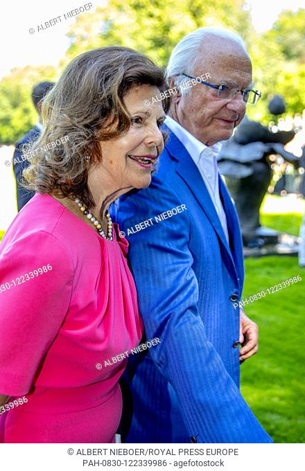 King Carl Gustaf and Queen Silvia of Sweden at Solliden Palace in Borgholm, on July 14, 2019, to attend the celebrations of Crown Princess Victoria her 42nd...