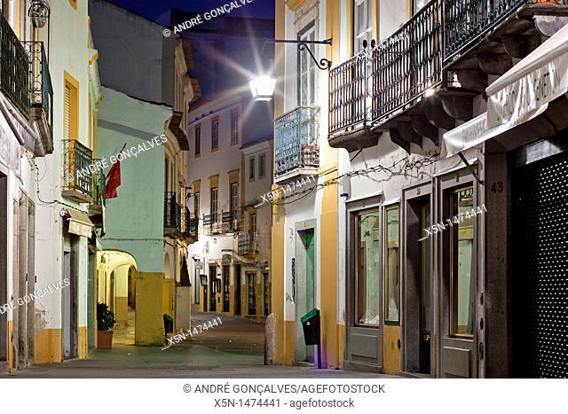 Streets of Evora, Portugal, Europe