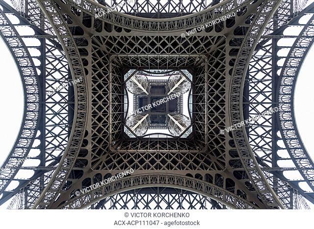 Bottom of the Eiffel Tower, Paris, France