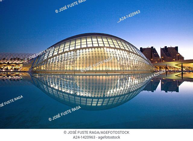 Spain-Valencia Comunity-Valencia City-The City of Arts and Science built by Calatrava-The Hemisferic