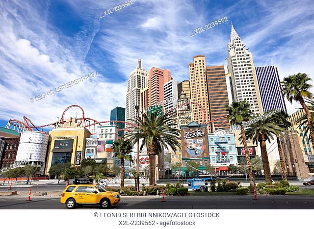 New York-New York Hotel and Casino. Las Vegas, Nevada, USA