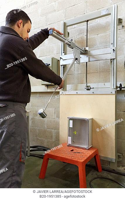 Mechanical impact test, Low voltage electric Laboratory, Certification of electrical equipment, Technological Services to Industry