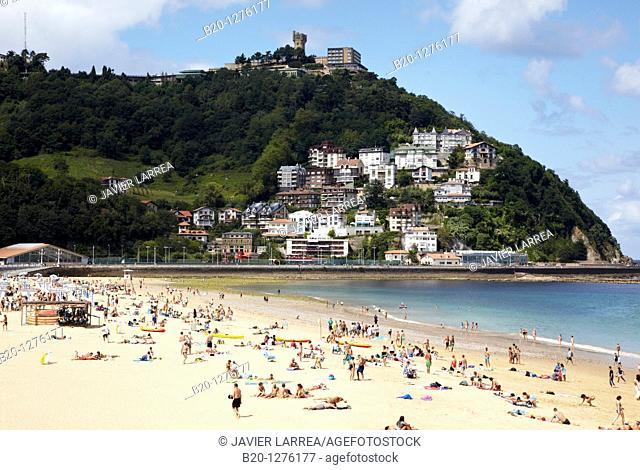 Playa de Ondarreta, Donostia, San Sebastian, Gipuzkoa, Euskadi, Spain