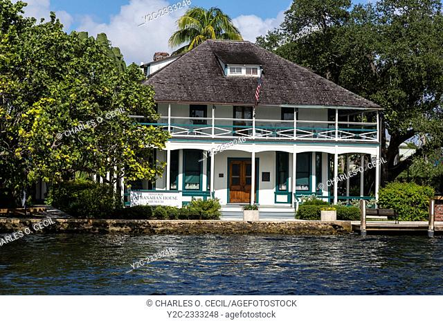 Ft. Lauderdale, Florida. Stranahan House, Built 1901, now a Museum