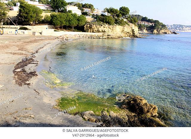 Beach of Moraira, Teulada, Alicante, Valencia, Spain