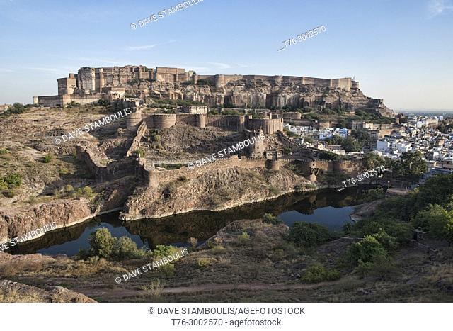 View of Mehrangarh Fort, Jodhpur, Rajasthan, India