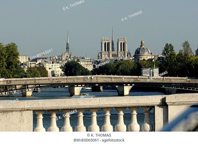 Paris, river Seine, cathedral Notre Dame, France, Paris