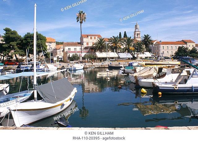 Harbour, Vela Luka, Korcula, Dalmatia, Croatia, Europe