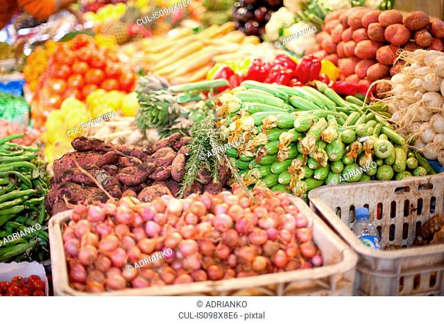 Fresh vegetables in market