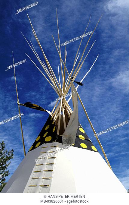 Native American tent, detail