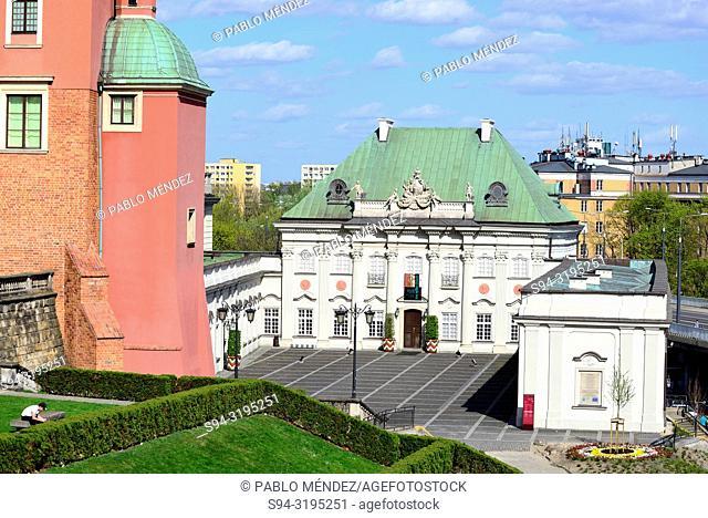 Pod Blacha palace, center of Warsaw, Poland